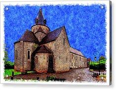 Small Church 2 Acrylic Print by Jean Bernard Roussilhe