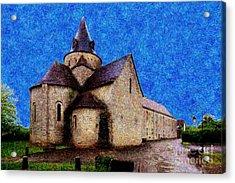 Small Church 3 Acrylic Print by Jean Bernard Roussilhe
