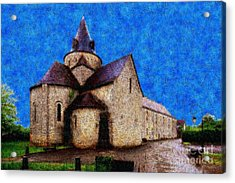 Small Church 4 Acrylic Print by Jean Bernard Roussilhe