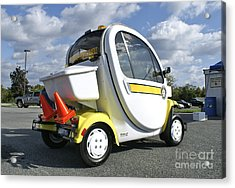 Small Electric Car For Traffic Acrylic Print by Blair Seitz