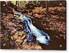 Small Falls 001 Acrylic Print by Scott McAllister