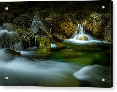 Small Falls In A Big Rush Acrylic Print
