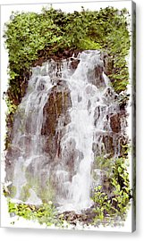 Small Falls On Mt. Ranier Acrylic Print by Peter J Sucy