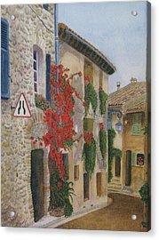 Small French Village Acrylic Print by Barbara Pascal