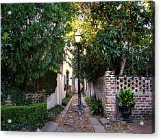 Small Lane In Charleston Acrylic Print by Susanne Van Hulst