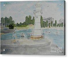 Small Lighthouse One Belmore Basin Acrylic Print
