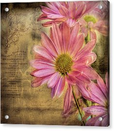 Acrylic Print featuring the photograph Small Perfections by Bellesouth Studio
