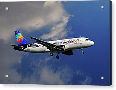 Small Planet Airbus A320-214 Acrylic Print