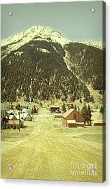 Acrylic Print featuring the photograph Small Rocky Mountain Town by Jill Battaglia