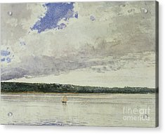 Small Sloop On Saco Bay Acrylic Print