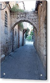 Small Street In Jerusalem Acrylic Print by Susan Heller