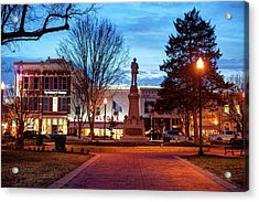 Small Town America Skyline - Downtown Bentonville Square  Acrylic Print