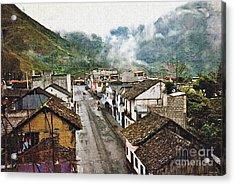 Small Town Ecuador Acrylic Print by Sarah Loft