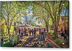 Acrylic Print featuring the photograph Small Town Festival by Lewis Mann