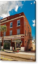 Small Town Shops Acrylic Print by Christopher Holmes