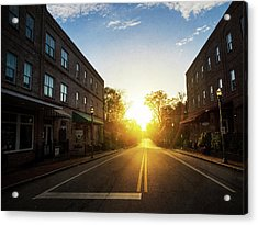 Small Town Street Sunset Acrylic Print