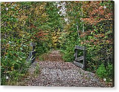 Acrylic Print featuring the photograph Small Trestle Along Rail Trail by Jeff Folger