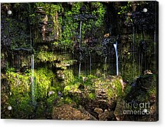 Acrylic Print featuring the photograph Small Waterfall by Elena Elisseeva