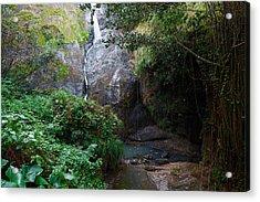 Acrylic Print featuring the photograph Small Waterfall by Ricardo J Ruiz de Porras