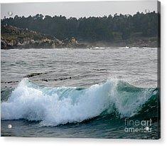 Small Wave On Carmel Bay Acrylic Print