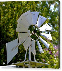 Small Windmill Acrylic Print by Kae Cheatham