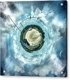 Small World #circular #tinyworld Acrylic Print