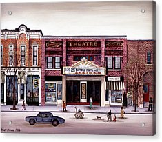 Smalley's Theater, Cooperstown, N.y. Acrylic Print by Janet Munro