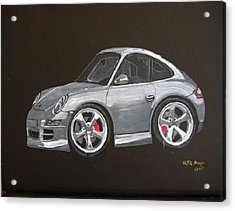 Acrylic Print featuring the painting Smart Porsche by Richard Le Page