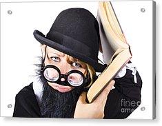 Smart Woman Researching Info Acrylic Print