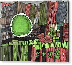 Sun Gone Green Acrylic Print by Sandra Church