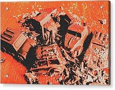 Smashem Crashem Cars Acrylic Print