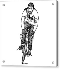 Smashing Bike Messenger Acrylic Print by Karl Addison