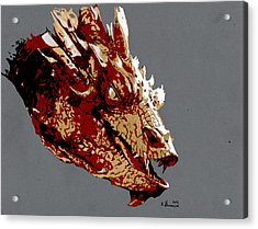 Smaug The Unassessably Wealthy Acrylic Print by Kayleigh Semeniuk