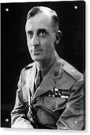 Smedley Butler - U. S. Marines General - 2 Time Medal Of Honor Recipient Acrylic Print by Daniel Hagerman