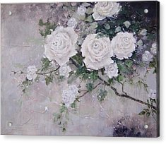 Smell The Roses  Acrylic Print by Laura Lee Zanghetti