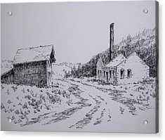 Smelter Ruins Glendale Ghost Town Montana Acrylic Print by Kevin Heaney