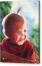 Smile Acrylic Print by Marilyn Jacobson