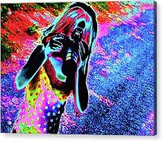 Smile Acrylic Print by Molly McPherson
