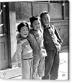 Smiles From Korea Year 1955 Acrylic Print by Dale Stillman