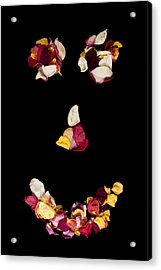 Smiley Rose Acrylic Print