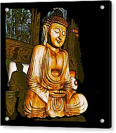 Acrylic Print featuring the photograph Smiling Buddha by Paul Cutright