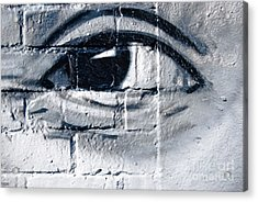 Acrylic Print featuring the painting Smiling Graffiti Eye by Yurix Sardinelly