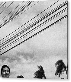 Smiling Palm Tree  #head #portrait Acrylic Print by Rafa Rivas