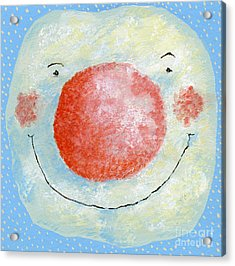 Smiling Snowman  Acrylic Print by David Cooke