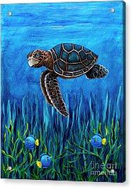 Smirking Turtle Acrylic Print