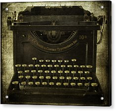 Smith And Corona Typewriter Acrylic Print
