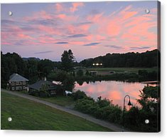 Smith College Paradise Pond Sunset Acrylic Print by John Burk