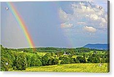Smith Mountain Lake Rainbow Acrylic Print