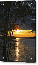 Smith Mountain Lake Summer Sunet Acrylic Print