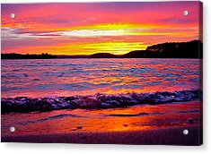 Smith Mountain Lake Surreal Sunset Acrylic Print